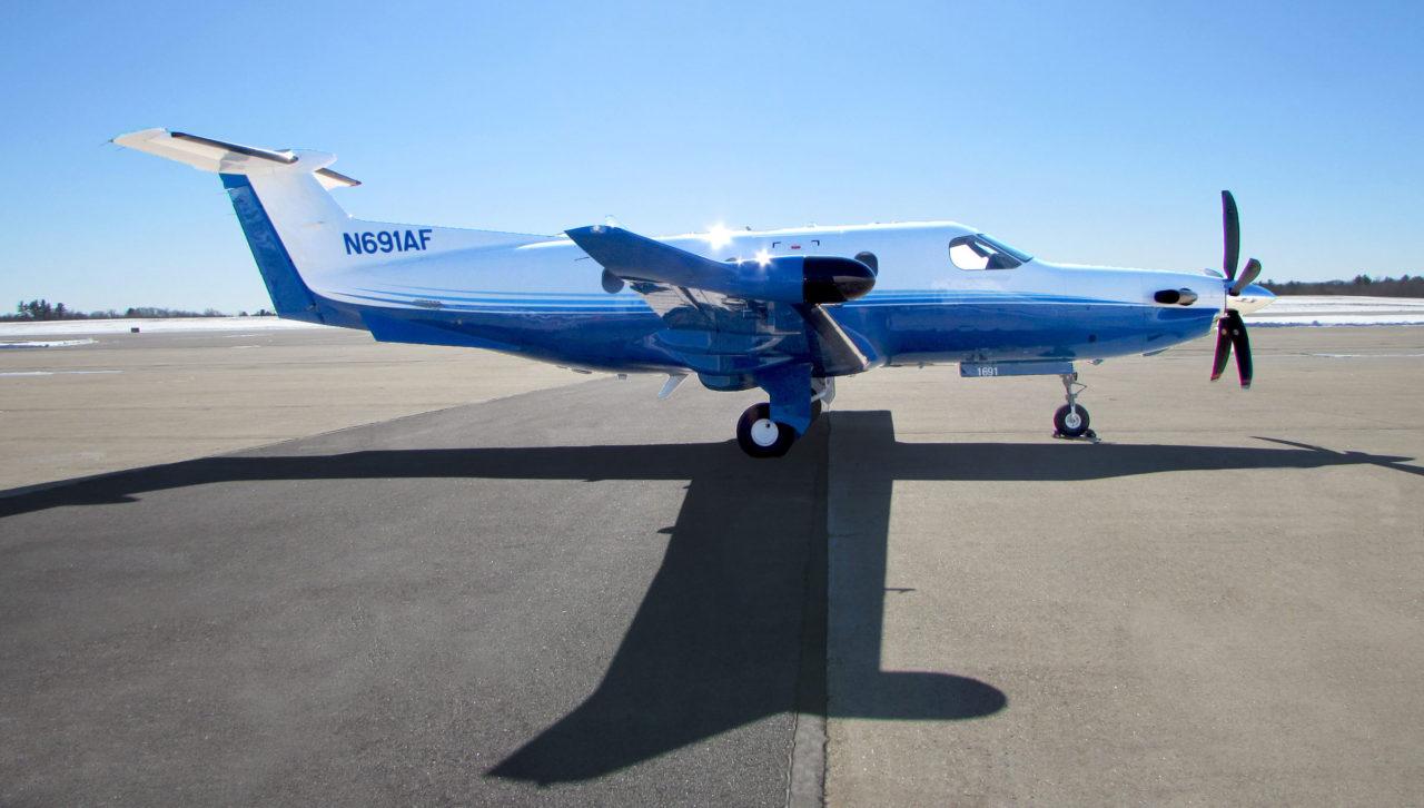Pilatus PC-12 turboprop plane part of the Pilatus fractional ownership program