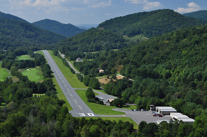 Elk River's on-site private airport.