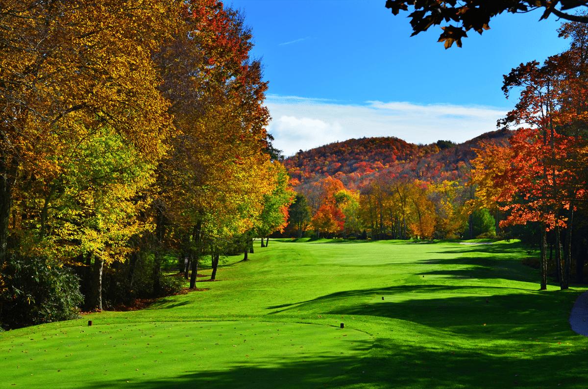 Impressive foliage on Elk River's private golf course.
