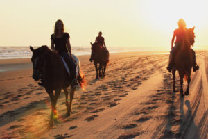 Horseback riding in the Outer Banks