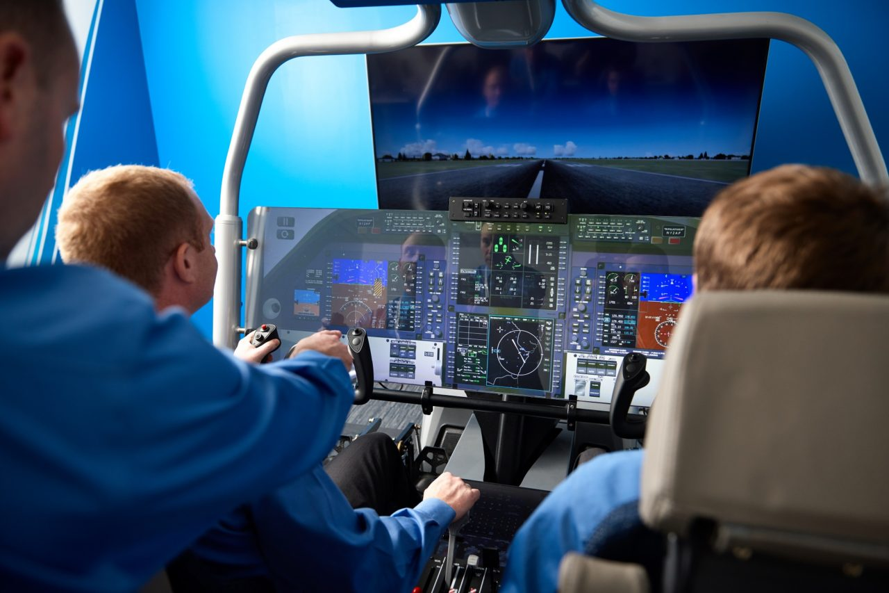 PlaneSense flight simulator