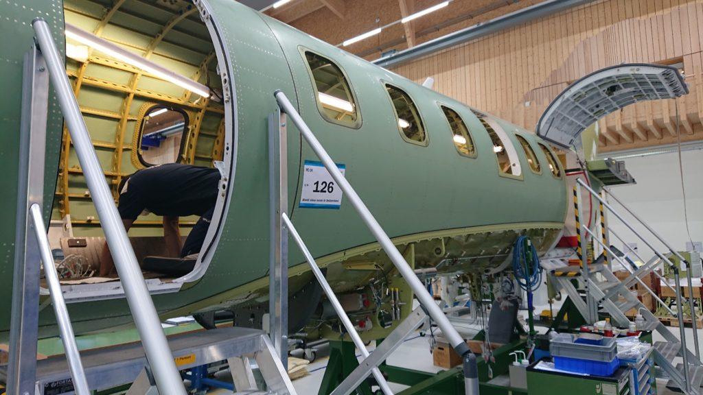 PlaneSense PC-24 under construction.