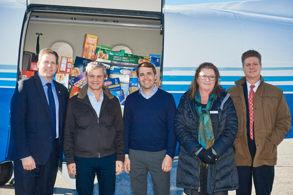 PlaneSense's food donations for NH Food Bank