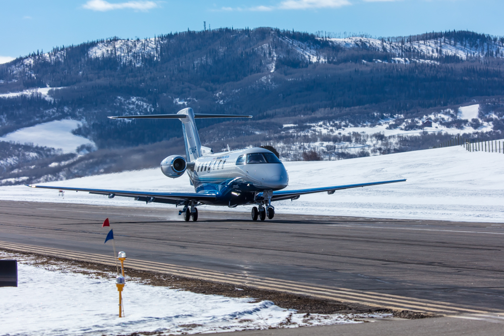 PlaneSense PC-24 in Steamboat Spring, CO.