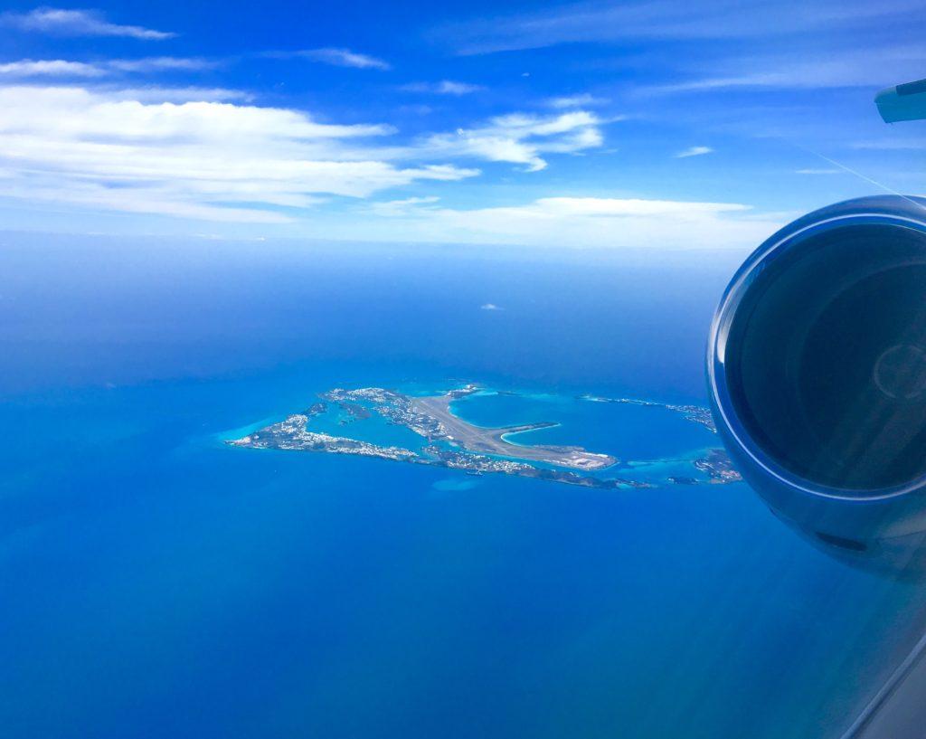 PlaneSense PC-24 jet flying over Bermuda.