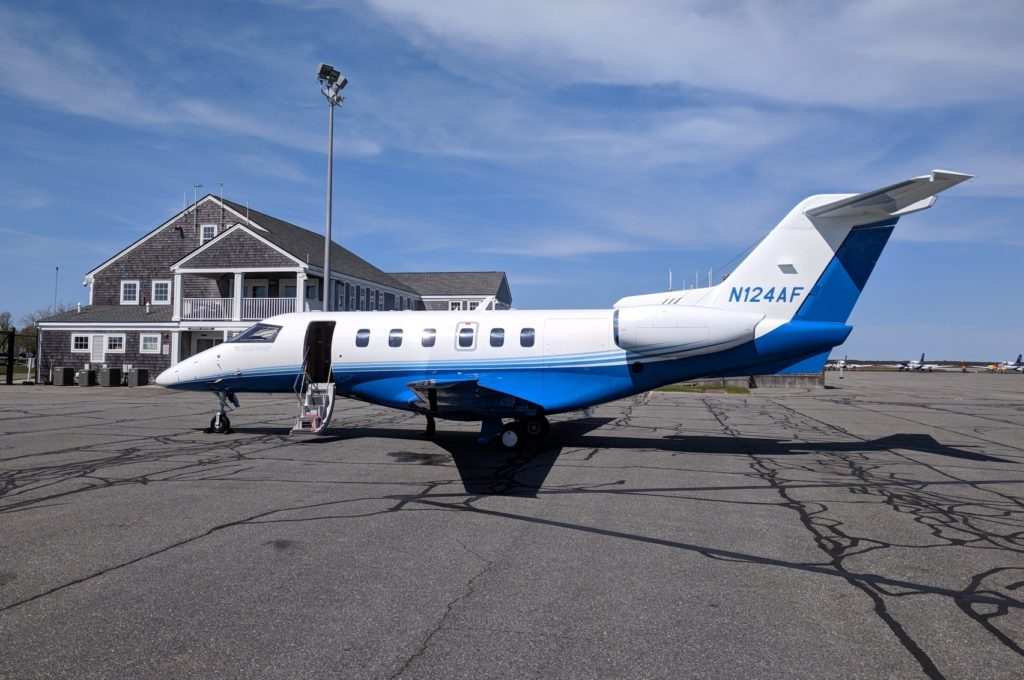 PlaneSense PC-24 in Nantucket, MA.