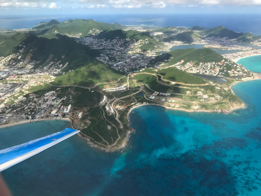 PlaneSense PC-24 flying over St. Maarten.