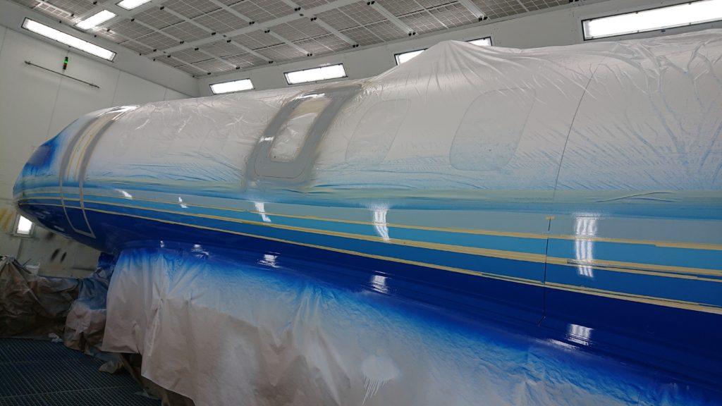 PlaneSense PC-24 undergoing a new paint job.