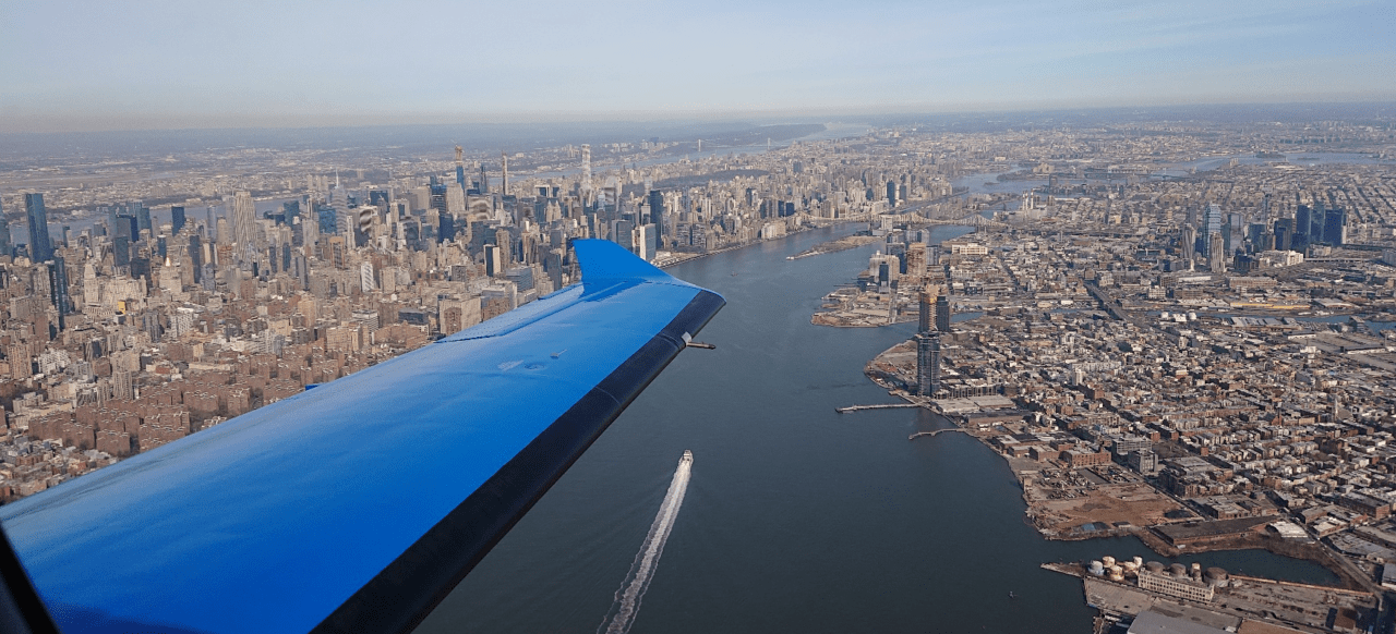 fractional ownership aircraft aerial of nyc