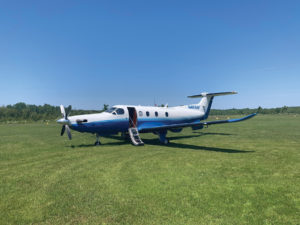 PC-12 at Grass Runway in Michigan