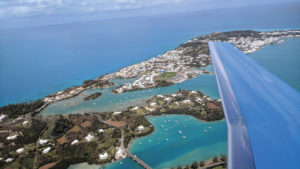 PC-24 Private Jet flies over Bermuda