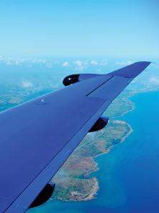 Pilatus PC-12 Turboprop flies over Havana, Cuba