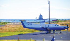 Pilatus PC-12 at Fisher's Island, NY