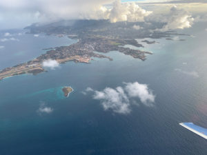 PC-24 Private Jet flies over Grenada