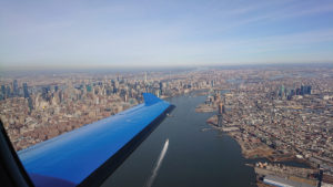 Pilatus PC-12 flies over JFK, NY