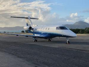 PC-24 Jet Lands in Nevis