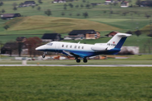 Pilatus PC-24 departs Stans, Switzerland for the United States