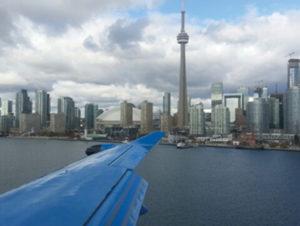 PC-12 flies over Toronto, CA